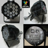 段階軽い18X18W Rgbaw紫外線LEDの同価64 DJの照明