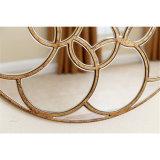 Круглое античное зеркало стены золота обрамленное Венеци для домашнего украшения