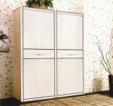 寝室179のための高品質のMorden Design PVC Shutter Series Wardrobe Sliding Door