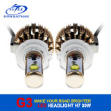 좋은 품질 고성능 30W 크리 사람 3000lm H7 차 LED 헤드라이트