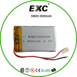 3.7V 800 mAh Rechargeable Lithium-Polymer Battery 503048