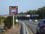レーダーの速度の印の道路交通固定LEDの制限速度の印