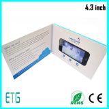 Livreto video do cumprimento do LCD do tamanho do cartão