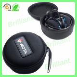 Caixa portátil do auscultadores do Zipper impermeável duro do escudo com gancho (JHC023)