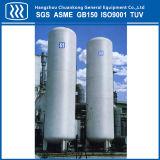 Tanque de armazenamento criogênico vertical da isolação do vácuo da certificação de ASME