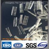 Anti-Crepa della fibra del polipropilene della maglia delle fibre dei pp che rinforza fibra