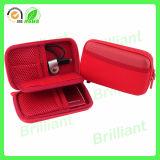 Exemplo duro impermeável de EVA HDD da tampa vermelha (076)