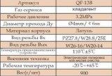 KühlCylinder Valve mit Certificate (QF-13B)