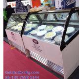 Armadietto di esposizione del gelato di Gelato