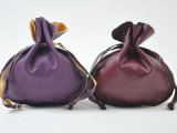 Echtes Lederdrawstring-Schmucksache-Taschen