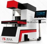 Máquina de couro dinâmica da marcação do laser do CO2 das calças de brim de Gld-350 3D