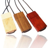 Custom Flash Drive Wood USB Necklace