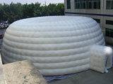 Weiße Abdeckung-aufblasbares Fußball-Zelt
