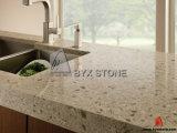 Parte superiore di vanità della stanza da bagno del quarzo & base d'appoggio di pietra artificiali della cucina