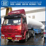半低温液化ガスタンク容器のトレーラーのタンク自動車