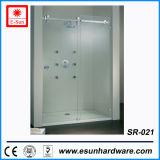 Оборудование горячей раздвижной двери ливня Frameless нержавеющей стали конструкций стеклянное (SR-021)