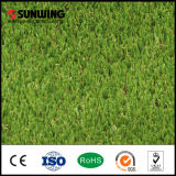Анти--UV зеленая пластичная искусственная лужайка травы для домашнего украшения сада
