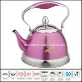 Colorear la herramienta revestida de la cocina de la caldera del silbido del acero inoxidable