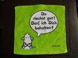 Baumwollflaschen-scharfes komprimiertes Tuch 100%