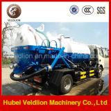 Dongfeng 4X2 6000 litros / 6cbm / 6m3 / 6ton / 6000L vacío succionador de aguas residuales de camiones