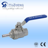 Steel di acciaio inossidabile 2piece Thread Ball Valve