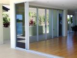 Marco de aluminio de alta calidad Doble vidrio templado Casement Puerta