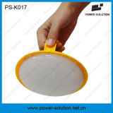 Éclairage LED solaire rond avec le nécessaire de manivelle de panneau solaire de picovolte