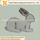 イースターDecorationのための銀製のPlating Porcelain Rabbit Shape Candle Holders