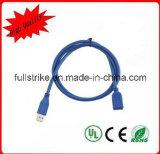 Extensión del USB 3.0 un varón a un cable de datos femenino