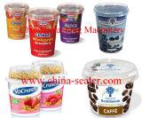 Yogurt Cup Filling Sealing Machine com Plexi Glass Cover