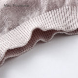 Bambini di estate di modo che coprono la maglietta di tela delle ragazze di miscela del cotone