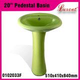 Bacino di basamento di piccola dimensione della lavata della mano del portello della porcellana della stanza da bagno di alta qualità fuori