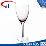 Cálice colorido desobstruído Handmade do vidro de vinho (CHG8127)