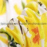 Tela de seda impresa ambiental reactiva del lomo de De de Crepe para la alineada