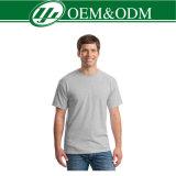 Camisa de te llana de los hombres del OEM del poliester del algodón el 50% del 50%