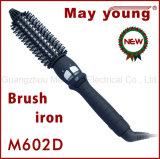 Encrespador de cabelo cerâmico do projeto confortável por atacado do ferro da escova de cabelo do punho