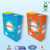 Pó detergente do preço do competidor com embalagem da caixa de papel