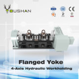 De van een flens voorzien 4-as Hydraulische Workholding van het Juk