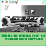 Sofa élégant de cuir véritable de salle de séjour contemporaine