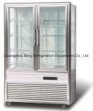 Холодильник индикации торта сторон рекламы 4 чистосердечный вертикальный стеклянный