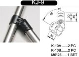 45° Conector del metal del soporte para el estante de tubo