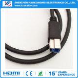 USB 3.0のタイプBスキャンナーのための男性プリンターケーブルへの男性