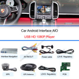 1080P Android Navigation Box + Video Interface Compatible com Porsche-Macan, Pimenta de Caiena, Panamera