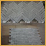 Mattonelle di marmo bianche poco costose della pavimentazione e della parete di Carrara per la cucina