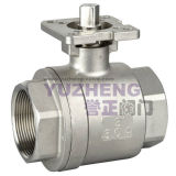 ISO Padの2部分Thread Ball Valve