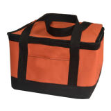 Insulation de dobramento Large Meal Package Lunch Cold Storage Toma-Away Bag Ice Pack Cooler Bag 600d Polyester
