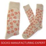 Bunte Form-beiläufiges Kleid-Socken der Männer (UBM 1013)