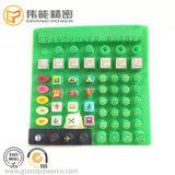 Tastiera di plastica della gomma di silicone del rivestimento del laser di stampa della matrice per serigrafia di precisione del fornitore OEM/ODM di Perfesional