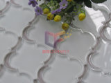 Beige Color Flower Pattern Crystal Glass Mosaic durch Wter Jet (CFW58)