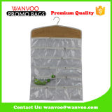 Eco Friendly Closet Plastic Pocket Hanging Organizer com fecho de correr
